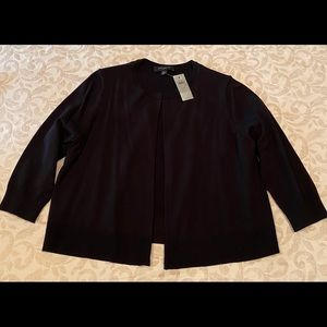 Ann Taylor black open-front cardigan NWT
